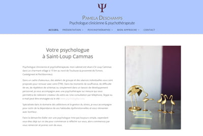 Page d'accueil Pamela Deschamps Psycologue
